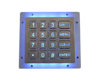 Compact Format Dynamic 16 Key Keypad / Vandal Proof Numeric Key Pad IP67