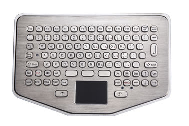 China Mini IP65 Explosion Proof desk top industrial metal keyboard With waterproof touchpad factory
