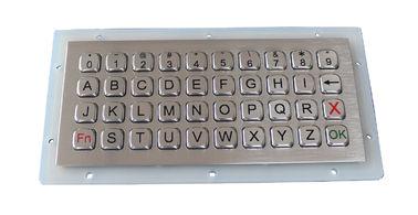 Security 40 Keys Panel Mount Keyboard , Industrial Metal Keyboard Weatherproof
