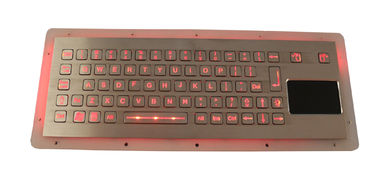 China Compact Format Panel Mount Keyboard Industrial With Dynamic Waterproof Sealed Touchpad distributor