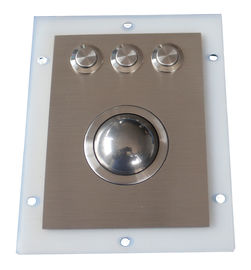 Industrial Stainless Steel Optical Trackball Module With 3 Sealed Waterproof Mouse Buttons