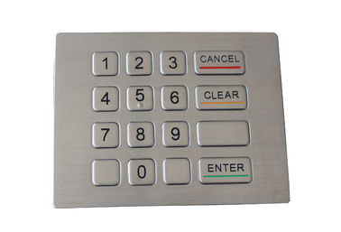 Water proof and vandal proof keypad 16 keys compact format IP67 dynamic