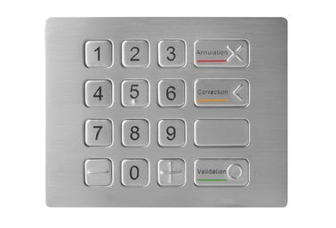 Updated Stainless Steel Metal Keypad With Bliand Dot for ATM Application in IP67 Standard