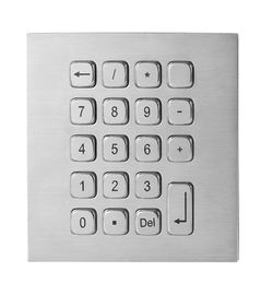 19 Keys Water Proof Metal Keypad Stainless Steel desk top solution with USB and PS2 interface