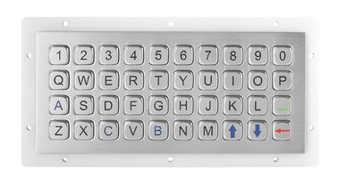 IP 68 40 Keys Mini Industrial Metal Keyboard / Keypad Panel Mount Outdoor Use