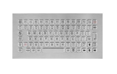 Vandal Proof Rugged Panel Mount Keyboard , Stainless Steel Keyboard for Self Service Kiosk