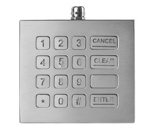 Updated16 Keys Industrial Numeric Keypad with Backlight IP68 standard Desktop Solution