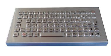 Stainless Steel Desktop Keyboard Compact Format IP68 Dynamic Vandal Proof