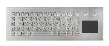 IP67 dynamic waterproof stainless steel industrial keyboard with sealed tough touchpad