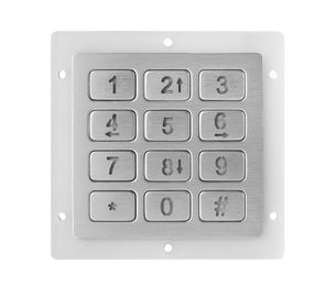 China 12 Keys Metal Keypad compact format IP67 dynamic ISO9001-2015 Certification factory