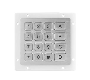 Stainless Steel matrix usb numeric keypad 16 keys compact format