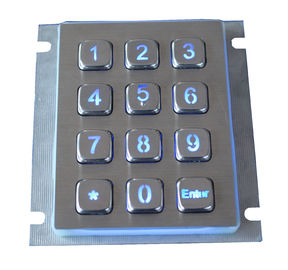 Dustproof Weatherproof Metal Keypad 12 Keys Access Control With 2.0mm Long Stroke