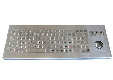 101 Keys Waterproof Desktop Metal Keyboard with Trackball 800DPI