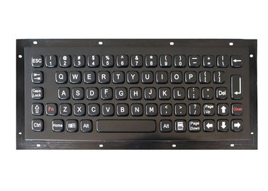 China Customized Metal Koisk Keyboard Brushed Black Titanium Industrial USB / PS2 Interface factory