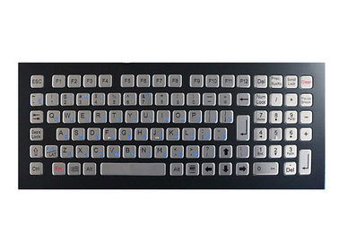China Industrial Koisk Metal Mechanical Keyboard Black IP67 Rated Washable Top Mounted factory