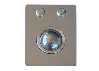 USB PS2 Panel Mount Stainless Steel Trackball 38mm IP67 Dynamic Sealed Vandal Proof