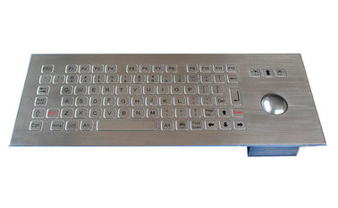 China IP67 rated rugged metal kiosk trackball Keyboard with separate FN keys factory