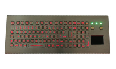 104 Keys IP68 Desktop Industrial Keyboard With Touchpad FN / Numeric Keys Available