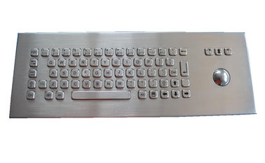 IP65 Stainless Steel Industrial Keyboard With Trackball , Desktop Rugged Keyboard