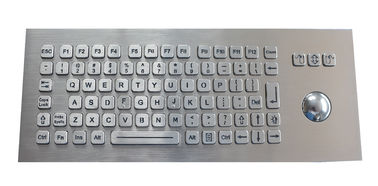 China Panel Mounted Backlit USB Keyboard Stainless Steel With Fast Accurate Optical Trackball factory