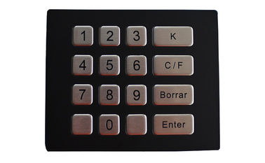 China IP67 Metal Numeric Keypad 16 Keys for Security Atm Access Control factory