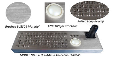 China Metal Joystick Keyboard Stainless Steel Desktop with trackball mouse factory