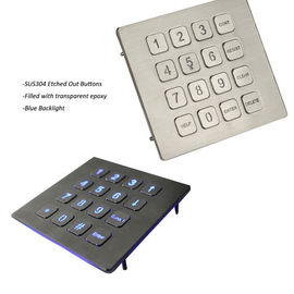 China Industrial Metal Keypad Panel Mount Backlit 16 Button Numeric Keypad factory