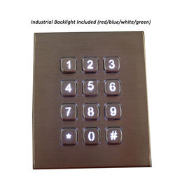 China Industrial Metal Numeric Keypad backlight For Access Bank Atm Outdoor distributor