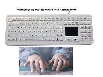 Medical Keyboard Silicone Hospital Rubber with Touchpad Antibacterial