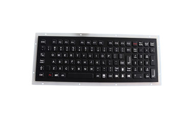 China Compact Format 2.0mm Key Travel Black Metal Keyboard factory