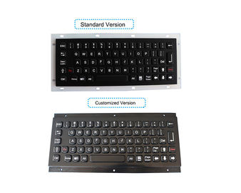 China IP67 Black Metal Industrial Keyboard Vandal Proof Panel Mount factory