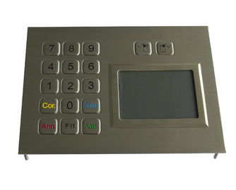 Customized layout metal stainless steel industrial touchpad with 65 * 49mm dimension