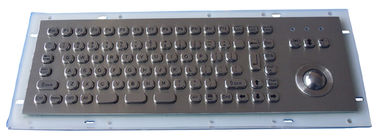 China Industrial Metal Kiosk Compact Keyboard with Ruggedized Trackball factory
