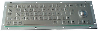 China 0.45mm flat keys stainless steel mechanical keyboard with 800 dpi optical trackball factory