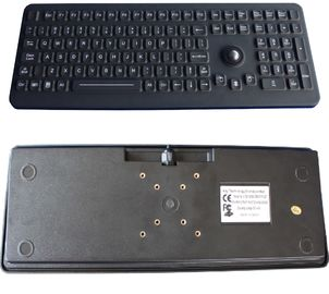Silicone Industrial Washable Computer Keyboard With Trackball PS2 / USB