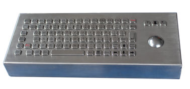 China 82 keys IP68 waterproof Metal stainless pc desktop keyboard with 38mm laser trackball factory