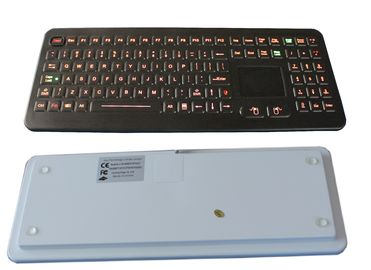 Professional IP68 Medical Backlit Keyboard with Flat Keys and Sealed Touchpad