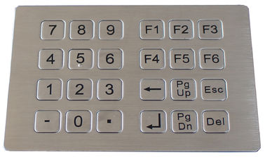 China Stainless steel metal keypad for kiosk factory