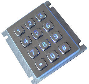 12 Keys Dustproof Weatherproof Keypad Access Control With 2.0mm Long Stroke