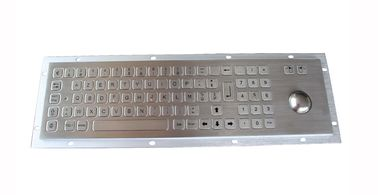 China IP65 rear panel mounted metal steel keyboard with trackball and numeric keypad factory
