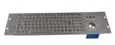 China 100 keys 19U explosion proof Industrial Metal Keyboard with 38mm trackball with ps/2 factory