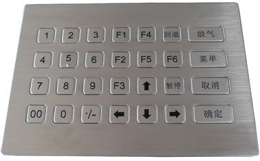 China 28 keys waterproof stainless steel metal numeric keypad for self - service machine factory