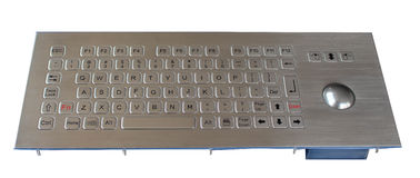 84 Key Washable  Industrial Keyboard With Trackball , stainless steel keyboard