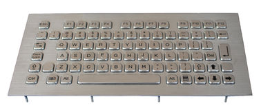 China Industrial liquid proof keyboard , SS metal Kiosk Keyboard With 77 Keys distributor