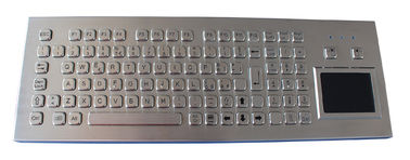 China IP65 desktop metal compact keyboard with touchpad / industrial pc keyboard factory