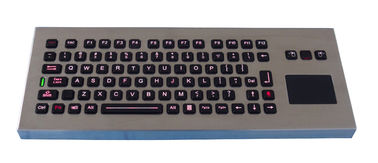 IP65 desktop  Illuminated industrial Keyboard with sealed touchpad for amy