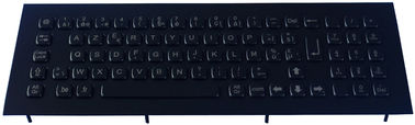 Ruggedized Black Metal Keyboard Integrated With Numeric Keypad