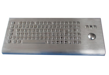 China IP65 keyboard wall mountable industrial metal keyboard with trackball and numeric keypads factory