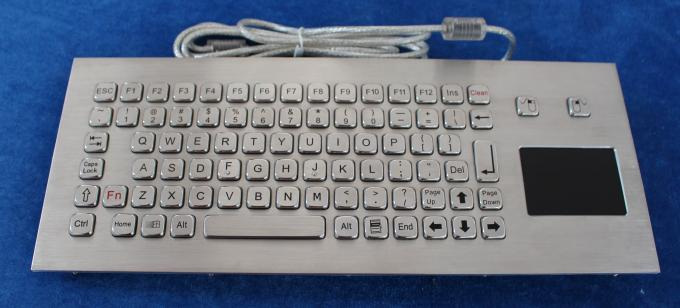 85 keys Stainless steel computer keyboard with touchpad for