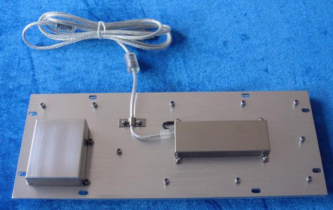 Mini washable IP65 static industrial trackball keyboard with FN keys